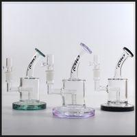weibliche bong schüssel 14.5mm großhandel-Mini Toro Glas Bong Ölplattform Wasser Bongs Farben weibliche 14,5 mm Bubbler mit Glasschale