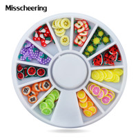 Wholesale fruit polymer clay for sale - Group buy Nail Art Decoration Fruit Slices d Polymer Clay Tiny Fimo Design Wheel Nail Rhinestone Acrylic Manicure Beauty Accessories