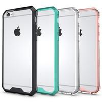 ingrosso iphone più oro-Custodia in acrilico antiurto ibrido per Iphone X 8 7 Plus 6 6s Galaxy S9 S8 Custodia rigida in plastica rigida + Crystal TPU trasparente in oro rosa doppio