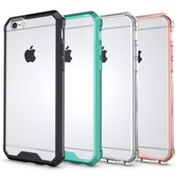 Wholesale iphone 6s crystal clear case online - Hybrid Shockproof Acrylic Case For Iphone X Plus s Galaxy S9 S8 Hard Plastic Soft TPU Clear Crystal Dual Rose Gold Gel Skin Cover