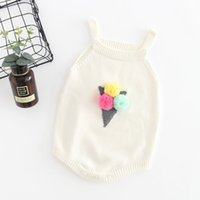 Wholesale baby toddler clothing suspenders for sale - Group buy Autumn Infant Baby Knitted Rompers Boys Girls Cartoon Suspender Overalls Knitwear Rompers Children Toddlers Climb Clothes