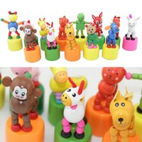 brinquedos de dedo de madeira venda por atacado-1 PCS Finger Control Puppet Animal Toy Crianças Animal De Madeira Brinquedos Fantoche de Mão Crianças Boneca de Madeira Do Bebê Dos Desenhos Animados Em Movimento Para As Crianças