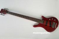 chinese bass venda venda por atacado-Nova marca de baixo elétrico 5string guitarra na cor vermelha