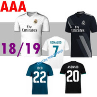 Wholesale cr7 real madrid jersey for sale - Group buy quality SOCCER Jersey Real madrid CR7 RONALDO MODRIC BALE ISCO RAMOS Asensio home away RD soccer jerseys football Shirt
