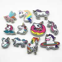 Wholesale cartoon patch clothing - 55pcs cm Mixed Unicorn Cartoon Horse Patches Embroidered Iron on Clothing Applique Sewing Patch DIY Accessory Embellishments