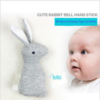 Wholesale Christmas Animals Play - Baby Rattle Toys Animal Cute Rabbit Hand Bells Plush Toys Baby Gift With BB Sound Playing Gift Christmas Plush Doll Kids Rattle Toy