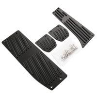 подставка для ног для автомобилей оптовых-Горячие продукты автомобильный аксессуар алюминиевый сплав MT педали для ног отдых для X1 E30 E36 E39 E46 E87 E90 E91 E92 E93 M3 Car-Styling