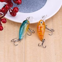 Wholesale mini crankbait lures resale online - Hot Sale cm g Colorful Plastic Hard Crank Mini Fishing Lures Crankbait Artificial Baits Fake Lure With Hooks