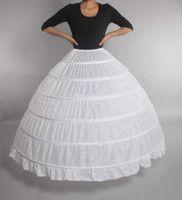 Cheap Ball Gown 6 Hoops Petticoat Wedding Slip Crinoline Bridal Underskirt Layes Slip 6 Hoop Skirt Crinoline For Quinceanera Dress