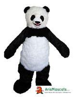 panda fantasia venda por atacado-100% real fotos tamanho adulto panda traje da mascote de mascotte mascotte animal adulto tamanho fantasia trajes vestido de festa de carnaval