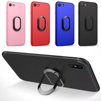 Wholesale iphone 5s cover ring online - 360 Ring Car Phone Holder Case Magnetic Cellphone Cover Armor iPhoneX Case for iPhone Plus S Plus S SE