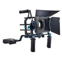 dslr film setleri toptan satış-Toptan DP3000 DSLR Rig Seti Film Seti DSLR Kameralar ve Video Kameralar için Omuz Dağı Rig