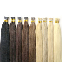 Wholesale brazilian straight hair keratin for sale - 50g Brazilian Human Hair I Tip Full Cuticle Remy Indan Peruvian Malaysian Keratin Pre bonded Human Hair Extensions Lasting years