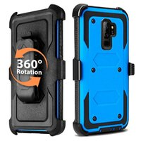 Wholesale phone holster clip - 3in1 Defend Case Hybrid Full-Body Dual Layer Heavy Duty Impact Phone Case Swivel Belt Clip Holster Kickstand For Samsung Galaxy Note 9