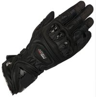 Wholesale mens black leather gloves - Free shipping 2018 Mens GP Pro Supertech Black White Red Motorcycle Leather Gloves Racing Glvoes Motorbike Cowhide Gloves
