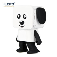 Wholesale Smart Toys Wholesale - Mini Dancing Bluetooth Speaker Smart Robot Dog Speakers Portable Bluetooth Super Bass Stereo Loudspeaker Creative Gift Toys