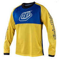 Wholesale Bmx Jersey Xl - 2018 TLD Quick-dry Long Sleeve Downhill Jersey Men BMX DH MTB T-Shirt Clothes Off-road Motorcycle Bike Cycling Jersey