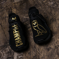Wholesale Owl Shoes - Best Top Quality Shoes OWL OVO Pharrell Williams Human Race HU Mens Womens Running Shoes Sneakers Sports Shoes