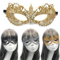 dans bayan elbiseleri toptan satış-Yeni 3D Dantel Cadılar Bayramı Masquerade Yarım Yüz Kadınlar Lady Rhinestone Venedik Maske Kostüm Şenlikli Dans Parti Noel Karnaval Giydir Maskesi