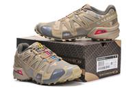 Wholesale camo cross - Salomon Speed cross 3 CS III Camo Yellow Men Outdoor Crosspeed 3 Running shoes sneakers size 40-46