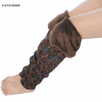 Wholesale plus size winter print leggings - YAVO SOSO 2018 Autumn Winter Style Plus Velvet Warm leggings Women Plus size XXXL Printing Flowers Casual Stretch women's pants