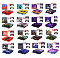 Wholesale sony playstation ps4 for sale - 44 Colors Fortnite Sticker For Sony PlayStation PS4 Console Skin Controllers Stickers Fortress Night Cartoon Controller Protector Skins