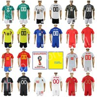 Wholesale flash pants - Men Youth Kids Football Kits Set Soccer Jerseys With Shorts Pant World Cup 2018 Germany Colombia Spain Portugal Child Man Custom Name Number