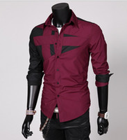 modelos masculinos vestidos al por mayor-Modelos de explosión de la primavera de otoño e invierno ropa masculina Camisas camisa casual grandes yardas masculinas Camisas de vestir Ropa de Hombre camisas de negocios