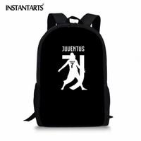 ноутбуки детские оптовых-INSTANTARTS 2018 Криштиану Роналду печатный Мужской рюкзак для любителей подарок путешествия ноутбук рюкзак мальчики дети мешок школы