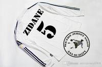 Wholesale ship jersey real madrid for sale - Group buy real madrid champion league final long sleeves soccer jerseys zidane carlos raul ronaldo hierro solari figo old shirts