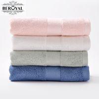 refrigeração toalhas transporte gratuito venda por atacado-Atacado-Novo 2017 Beroyal 4 Pack bambu Toalha de mão 34 * 75 centímetros de bambu de fibra de Terry Rosto Magia cetim Toalha de bambu toalha Set