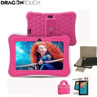 mais comprimidos venda por atacado-Dragon touch y88x plus 7 polegada rosa crianças tablets quad core cpu android 5.1 pirulito display ips kidoz pré-instalado