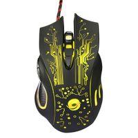 professionelle maustasten großhandel-Coole Gaming Mouse USB Wired 3200 DPI 6 Tasten LED Optische Professionelle Maus Gamer Mäuse