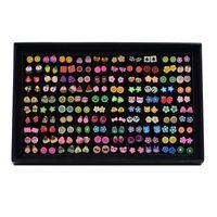 model meyve toptan satış-Hayvan Meyve Küpe Of Yumuşak Meyve Mix Set Kombinasyonu 100 Çiftleri Küpe Toptan Hipoalerjenik Sıcak Modeller Sevimli Hayvan Kulak Damızlık