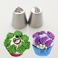 Wholesale ice cream cupcake tool resale online - Christmas Design Icing Piping Tips Stainless Steel Russian Nozzles Bakeware Cupcake Cake Decorating Pastry Baking Tool Cream Model Tools