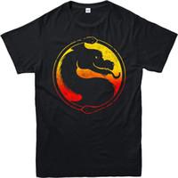 kombat spiele großhandel-Mortal Kombat T-Shirt, Mortal Kombat Logo Parodie, Midway Games, Erwachsene und Kinder Größen