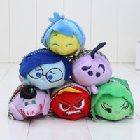Wholesale tsum plush - 9cm TSUM TSUM Inside Out Plush Toy Doll New Movie Screen Cleaner Phone Joy Disgust Angry Sadness