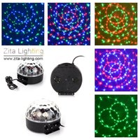 12 Teile / los Zita Beleuchtung Rotierenden Kristall Magic Moving Ball Mini Disco RGB LED Bühnenbeleuchtung Sounds Control DMX 512 DJ Dance Party Wirkung