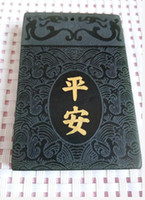 Wholesale hotan jade - China's xinjiang hotan jade bas-relief Long Pingan pendant with free shipping A2