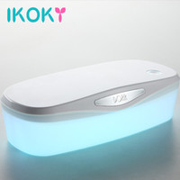 Wholesale adult sex toys box resale online - IKOKY UV Disinfection Box for Sex Toys Adult Appliance Sterilization and Disinfection for Vibrator Egg Dildo Masturbation Device D18110605