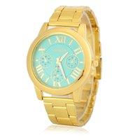 relojes unisex montre al por mayor-Unisex Oro Plata Acero Inoxidable Relojes de Pulsera Moda Casual Lujo Mujeres Hombres Relojes de cuarzo Reloj de regalo Montre Femme Caliente
