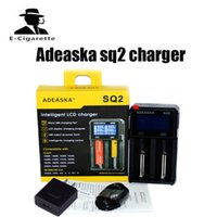 Wholesale lithium ion aa battery - Original ADEASKA SQ2 Intelligent Lithium LCD Charger with USB Output For 18650 26650 16340 Li-ion AA AAA Ni-MH Ni-Cd battery
