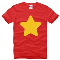 Wholesale Universe Shorts - STEVEN UNIVERSE Star Creative Printed T Shirts Men Summer Style Short Sleeve O-Neck Cotton Men's T Shirt Fashion Tee Shirt Homme
