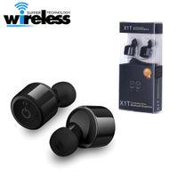 indicaciones de voz samsung al por mayor-X1T Auriculares inalámbricos Bluetooth Auriculares Auriculares estéreo de dos canales con indicador de voz para iphone samsung xiaomi smartphones