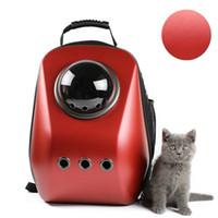 ingrosso piccola cassa di viaggio per cani-Cat Carrier Astronaut Backpack Puppy Bubble Pet Borsa da viaggio Space Capsule Transport Cassa per cani di piccola taglia Outdoor Airline