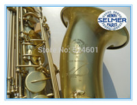 Wholesale Selmer 54 - Low Price Henri SELMER Tenor Saxophone Music Instruments Reference 54 Bronze Plated with Gloves Cleaning Cloth Brush Straps