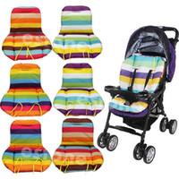 baby car cushion Australia - Free Shipping NEW Baby Stroller Cushion Pad Pram Padding Liner Car Seat Pad Rainbow Waterproof