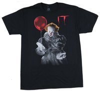 ingrosso camicia a maniche corte-It Mens T-Shirt - Smiling Pennywise With Balloon Short Sleeve Sconto 100% cotone estate moda uomo T Shirt