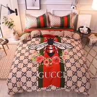 Wholesale home textiles online - luxury Full Letter G Little Bees Bedding Set Pattern Duvet Cover Pillow Case New Sheet Bedding Sets Home Supplies Bed Clothes Home Textiles