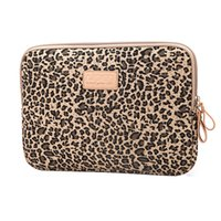 ingrosso 10 inch tablet-Leopard Laptop Sleeve 12-15.6 pollici impermeabile antiurto tela borsa Borse Custodia protettiva per ipad mini / air / kindle LS-103